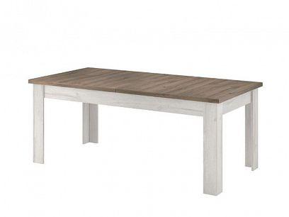 NAPOLI 15 jídelní stůl, bílá northland/dub sonoma tmavý