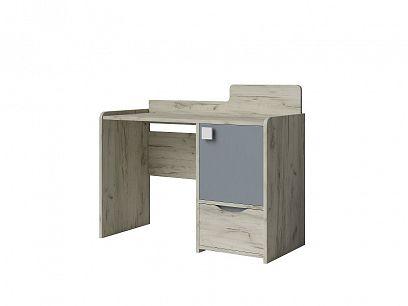 ALEX psací stůl, borovice bílá/šedá