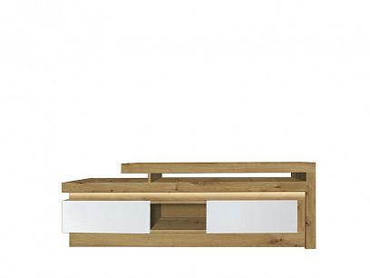 Rimini II new televizní stolek, ořech salev/bílá lesk