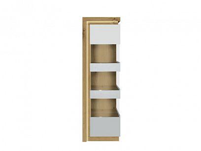 Rimini II new vitrína REG 1WL, ořech salev/bílá lesk
