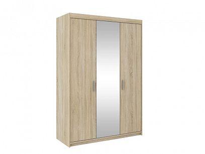 EVERLY 3DN šatní skříň se zrcadlem, dub sonoma