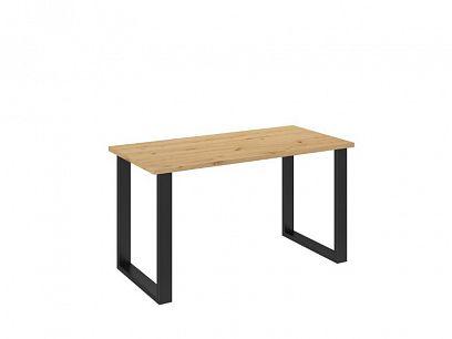 LOFT jídelní stůl 138/67, dub atrisan/černá