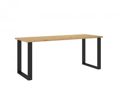 LOFT jídelní stůl 185/67, dub atrisan/černá
