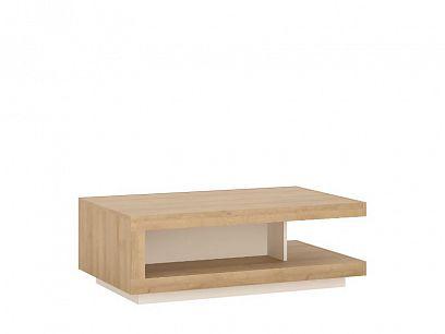 CANTUS T01 konferenční stolek, dub riviéra světlý/bílá alpská