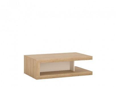 CANTUS T02 konferenční stolek, dub riviéra světlý/bílá alpská