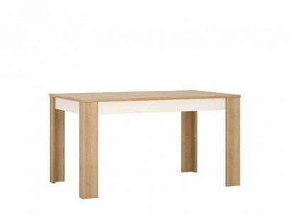 CANTUS T03 jídelní stůl 140, dub riviéra světlý/bílá lesk