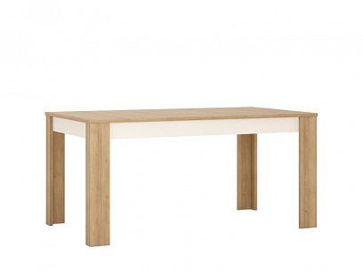 CANTUS T04 jídelní stůl 160, dub riviéra světlý/bílá lesk