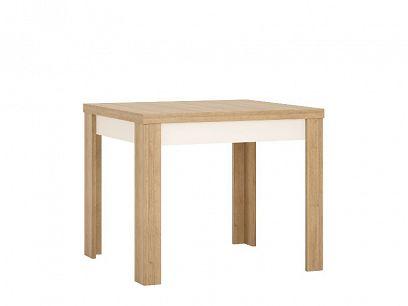 CANTUS T05 jídelní stůl 90, dub riviéra světlý/bílá lesk