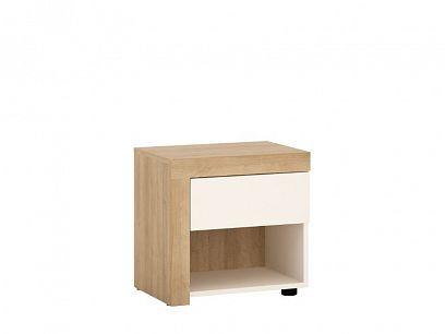 CANTUS 1S noční stolek, dub riviéra světlý/bílá lesk