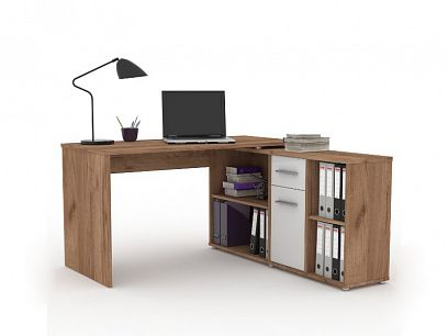 RAFAEL psací stůl, dub dunkel/bílá