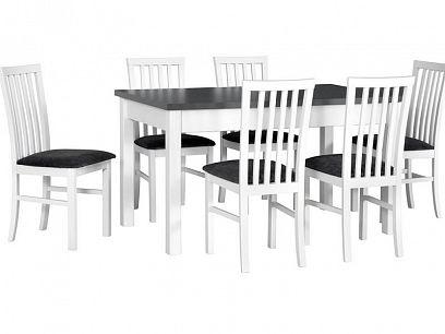Madona II Jídelní stůl rozkládací, bílá/grafit