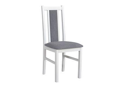 BOSANOVA 14 jídelní židle, bílá/tmavě šedá