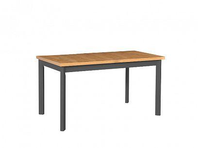 MAXMILIÁN 5P rozkládací jídelní stůl, dub grandson/grafit