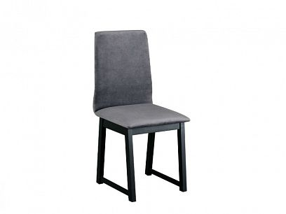 HEDVIKA 6 jídelní židle, šedohnědá/černá