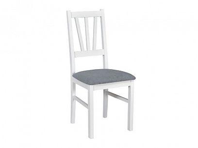 BOSANOVA 5 jídelní židle, bílá/světle šedá