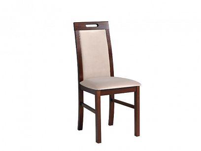 NIEL 9 jídelní židle, ořech/béžová