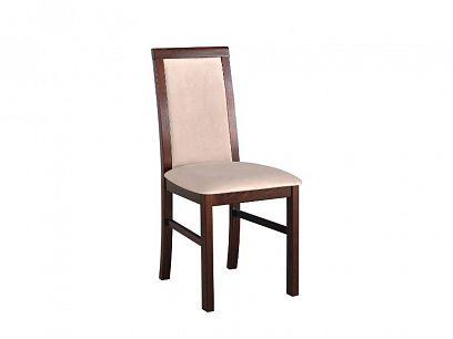 NIEL 6 jídelní židle, ořech/béžová