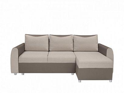 Jette Lux UNI Rohová sedací souprava, Peru 2 grey beige/Rain 4 taupe hnědá/béžová