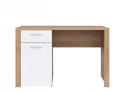 Balder Psací stůl BIU 120, Dub riviéra/bílý lesk