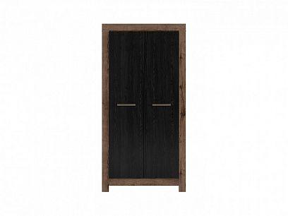 Balin šatní skříň SZF2D, dub monastery/dub černý