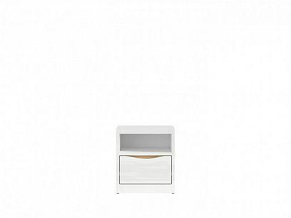 PORI KNT1S noční stolek, bílý lesk