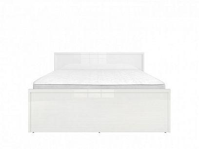 PORI LOZ/140 postel, bílý lesk