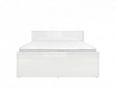 PORI LOZ/160 postel, bílý lesk