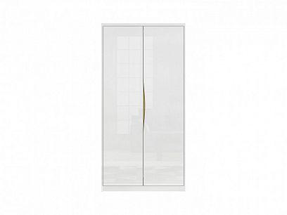 PORI SZF2D šatní skříň, bílý lesk