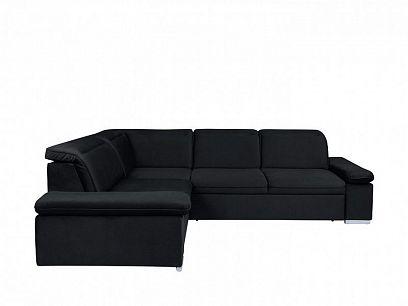 DARBY Rohová sedací souprava, pravá, černá