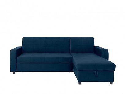 KIRSTEN IV rohová sedací souprava, oboustranná, tmavě modrá